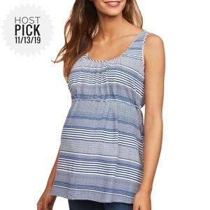 Motherhood Maternity Tie Waist Babydoll Top Size M